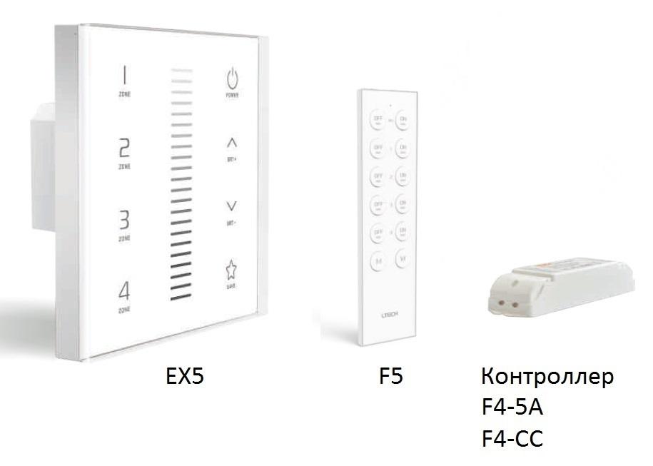 Сенсорная панель EX5, пульт ДУ F5, контроллеры F4-5A, F4-CC