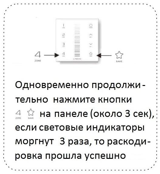ДЕАКТИВАЦИЯ СЕНСОРНЫХ ПАНЕЛЕЙ EX5