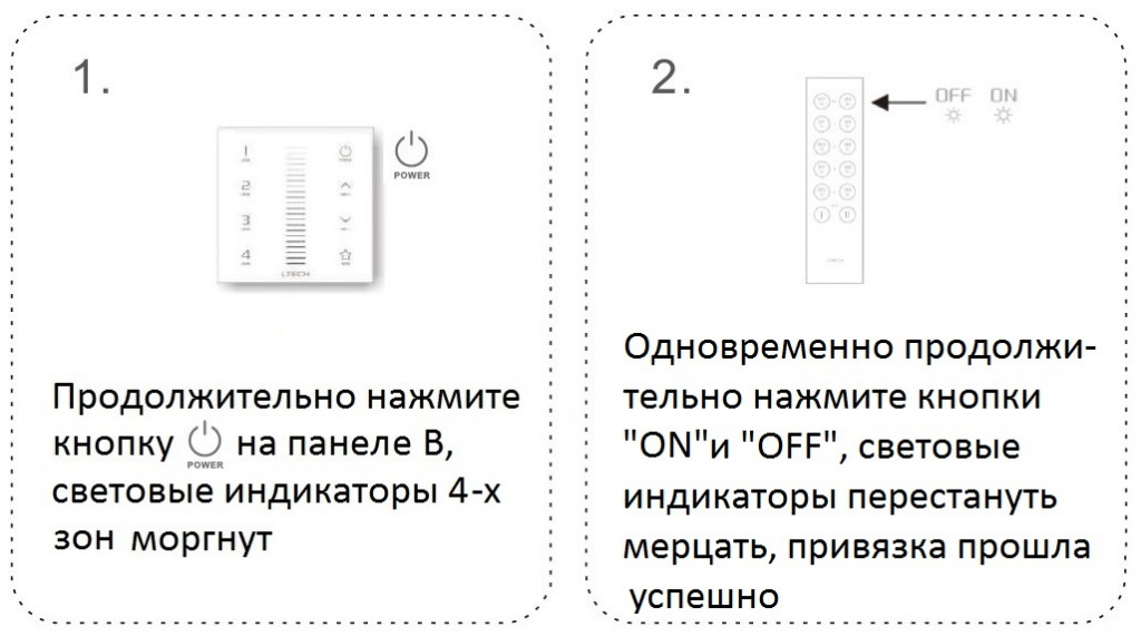Привязка сенсорных панелей EX5 между собой